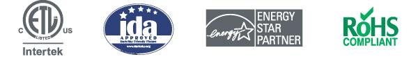 Intertek IDA Approved Energy Star Partner RoHS Compliant